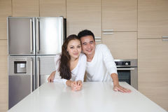 Pares asiáticos atractivos Imagen de archivo libre de regalías