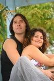 Pares atractivos en amor Foto de archivo libre de regalías