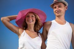Pares atrativos sobre ao ar livre Fotos de Stock Royalty Free