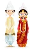 Pares bengalíes de la boda ilustración del vector