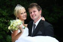 Pares bonitos do casamento Imagem de Stock