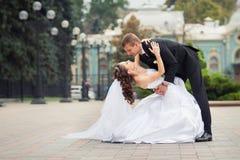 Pares bonitos do casamento Fotografia de Stock
