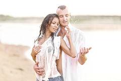 Pares bonitos no amor Imagem de Stock Royalty Free
