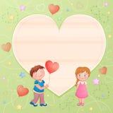 Pares bonitos no dia de Valentim Imagens de Stock Royalty Free