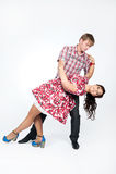 Pares bonitos novos na dança Imagens de Stock Royalty Free