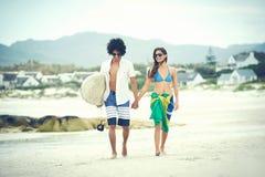 Pares brasileños de la playa Foto de archivo libre de regalías
