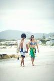 Pares brasileños de la playa Fotos de archivo libres de regalías