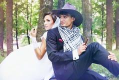 Pares brutais do recém-casado imagens de stock royalty free