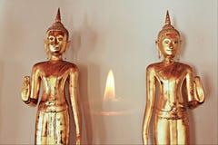 Pares Buda y refection de la luz suave Imagenes de archivo