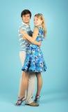 Pares cariñosos de baile Imagen de archivo libre de regalías