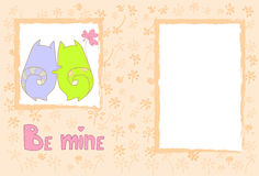 Pares Cat Banner With Copy Space del amor de Valentine Day Gift Card Holiday Fotos de archivo libres de regalías
