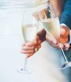 Pares Champagne do casamento Fotos de Stock Royalty Free