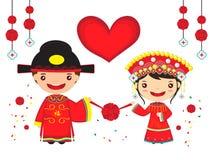 Pares chinos de la boda Fotos de archivo