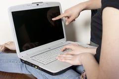 Pares com computador Foto de Stock