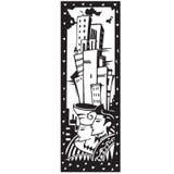 Pares com fundo da cidade ilustração royalty free