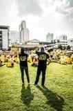 Pares con las muchedumbres en la reunión de Bersih 4 Fotografía de archivo libre de regalías