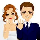 Pares da aliança de casamento Fotos de Stock Royalty Free