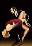 Pares da dança ilustração stock