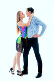 Pares da dança da salsa Foto de Stock Royalty Free