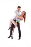 Pares da dança da salsa Foto de Stock