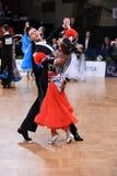 Pares da dança de salão de baile, dançando na competição Imagens de Stock Royalty Free