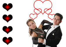 Pares da dança do amor Imagens de Stock Royalty Free