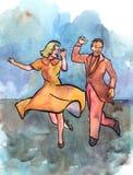 Pares da dança? isolados no branco Foto de Stock