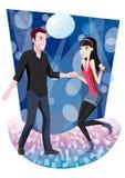 Pares da dança no discoteque ilustração stock