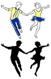 Pares da dança do balanço Imagens de Stock Royalty Free