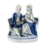 Pares da estatueta da porcelana no amor fotos de stock royalty free