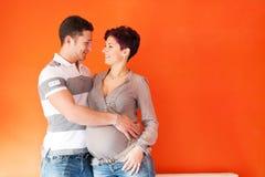 Pares da gravidez Foto de Stock Royalty Free