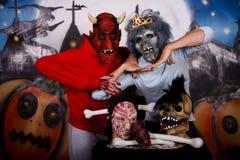Pares da máscara de Halloween imagens de stock