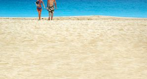 Pares da praia Foto de Stock Royalty Free