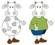 Pares da vaca Ilustração Stock
