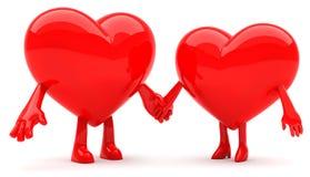 Pares dados forma coração Imagem de Stock