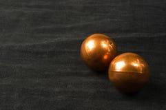 Pares das bolas chinesas de cobre Baoding fotografia de stock royalty free