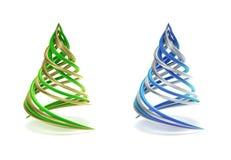 Pares de árvore de Natal simbólica e minimalista Foto de Stock Royalty Free