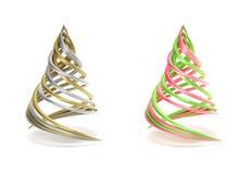 Pares de árvore de Natal simbólica e minimalista Fotos de Stock Royalty Free
