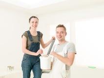 Pares de ajuda dos trabalhos de casa Foto de Stock Royalty Free