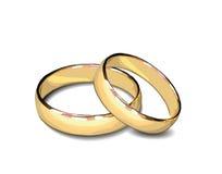 Pares de anillos de oro Fotografía de archivo libre de regalías