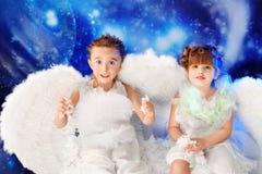 Pares de anjos Fotografia de Stock Royalty Free