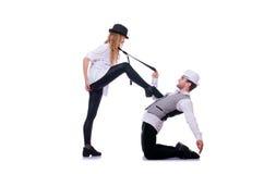 Pares de baile de los bailarines Imágenes de archivo libres de regalías