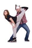 Pares de baile de los bailarines Fotografía de archivo