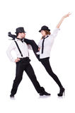 Pares de baile de los bailarines Imagen de archivo libre de regalías