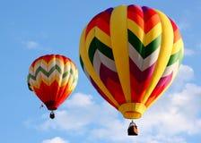Pares de balões de ar quente Imagem de Stock Royalty Free