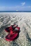 Pares de balanceos en una playa Imagen de archivo libre de regalías