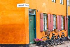 Pares de bicicletas em Copenhaga Foto de Stock Royalty Free