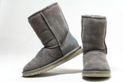 Pares de botas no fundo branco Imagens de Stock