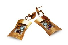 Pares de brincos bonitos Imagem de Stock Royalty Free
