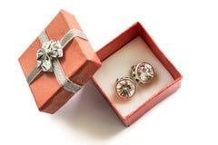Brincos do diamante Imagem de Stock